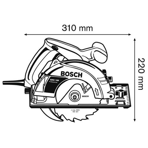Пила дисковая Бош / Bosch GKS 160 - photo#35